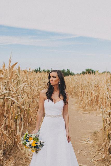 Country Chic Backyard Wedding: Krista & Ben