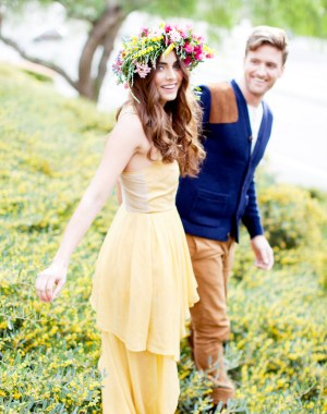 romantic bohemian engagement   Chris & Kristen Photography on Oh Lovely Day