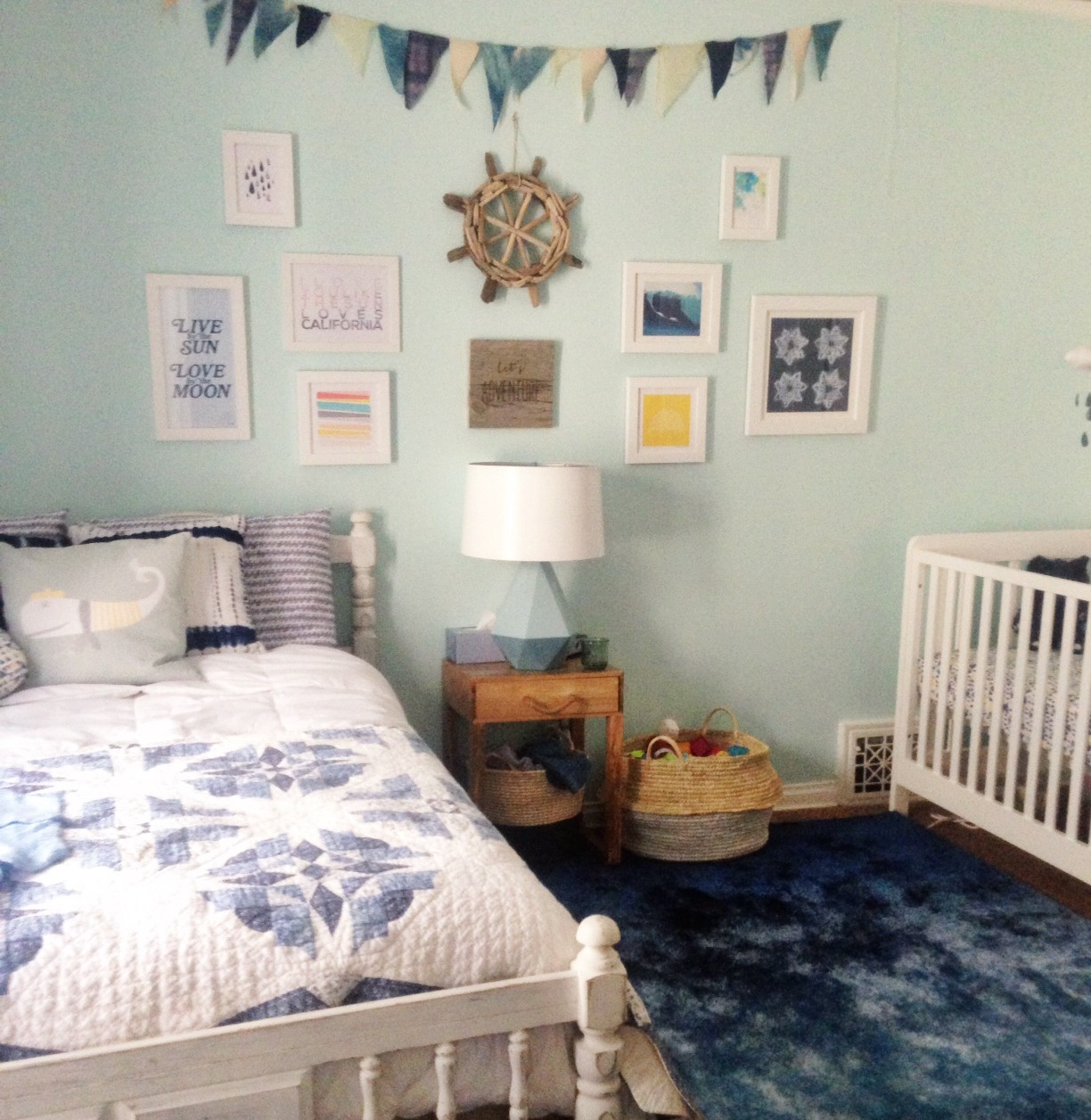 Family Living Room Design Ideas That Will Keep Everyone Happy: Nursery Peek + Lulu & Georgia Giveaway