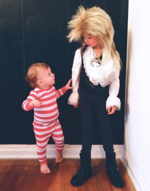 best halloween costume for pairs ever! Jareth the Goblin King and Toby from Labryinth. So good! More cute costume ideas for pairs too.