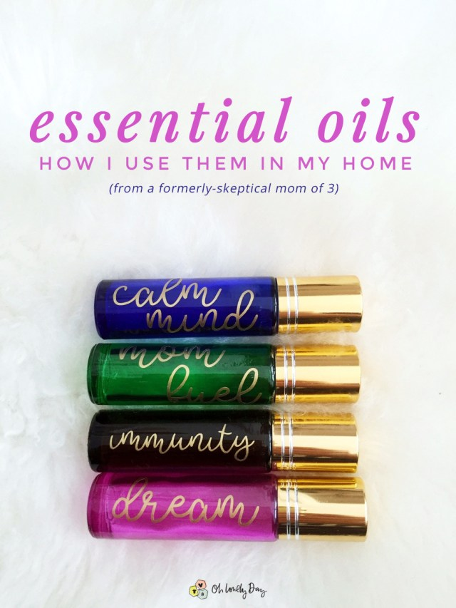 how to use essential oils in your home and for your family. ways a formerly skeptical mom of 3 has incorporated oils into her home.