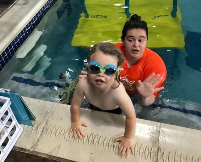 goldfish swim school lessons progress update
