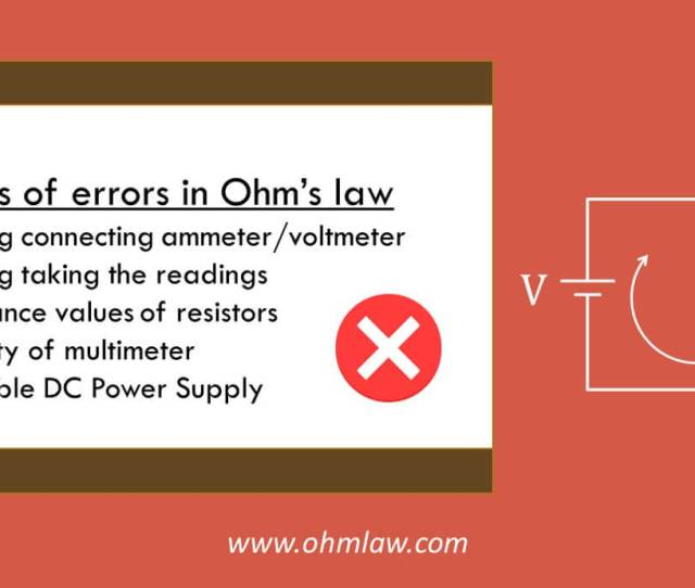 Sources Of Error In Ohms Law