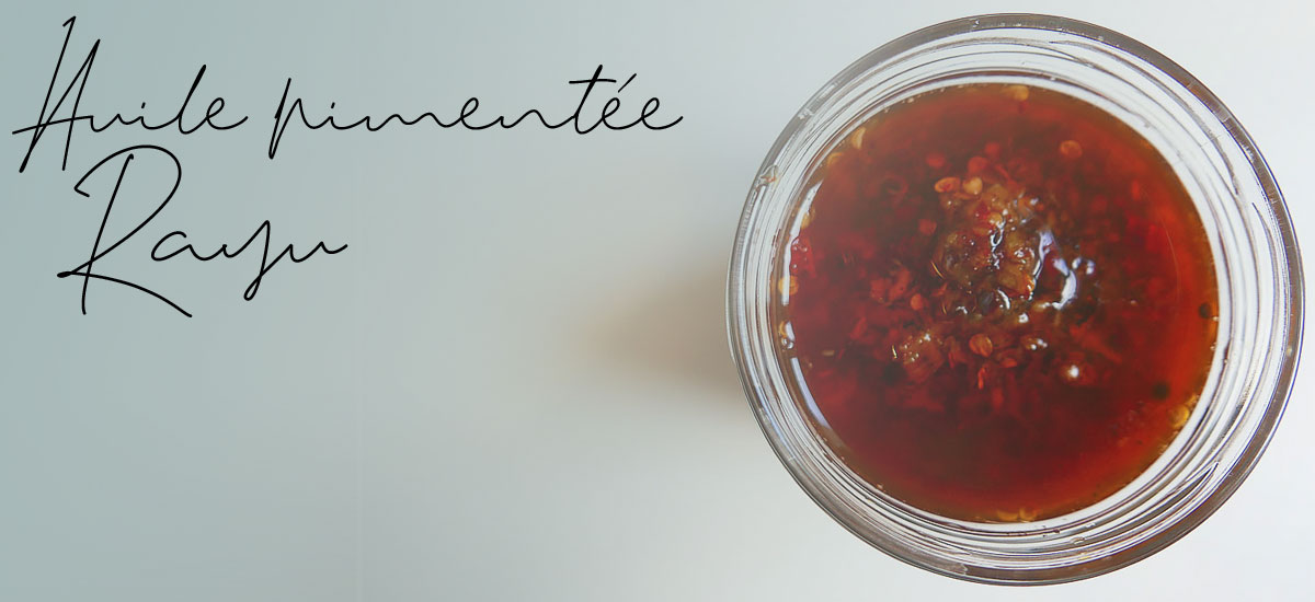 Huile pimentée Rayu, à l'huile de sésame