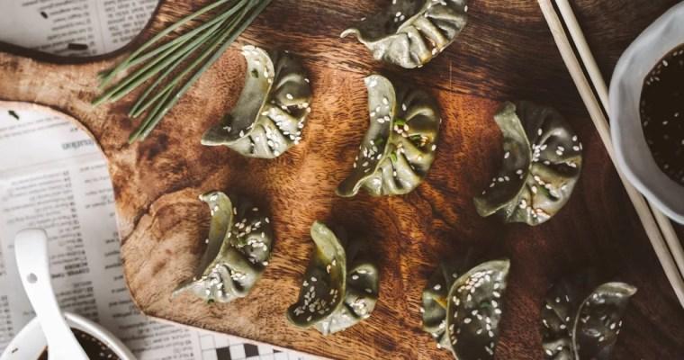 Pâte à gyoza aux épinards