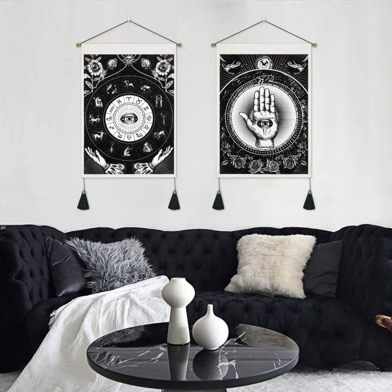zodiac and palmistry tapestries for wall decor