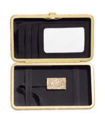 HM: Kapsička na karty i mobil - z venku krásně zlatá třpytivá