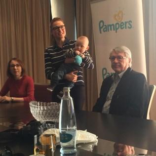 Prezentace nových Pampers Premium Care s modelkou Romanou Pavelkovou a jejím synem Maxem
