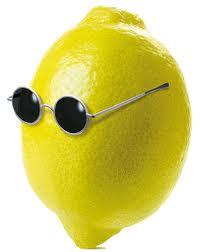 image de citron avec lunettes