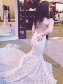 I loved the low-back detail with the scrunched ribbon.
