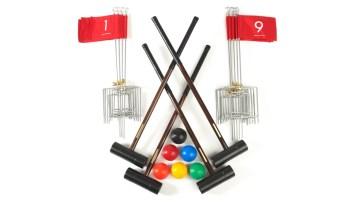 Nine Holes Anywhere Croquet Golf Set