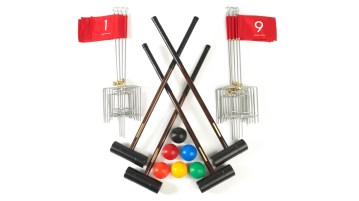 Nine Holes Anywhere Croquet Golf Set