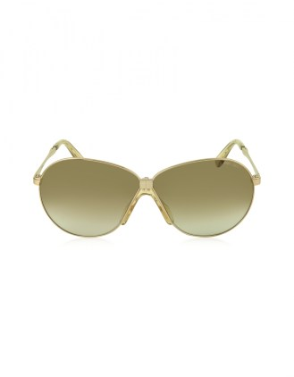 JIMMY CHOO Rose Gold Metal Frame Women's Sunglasses - $395