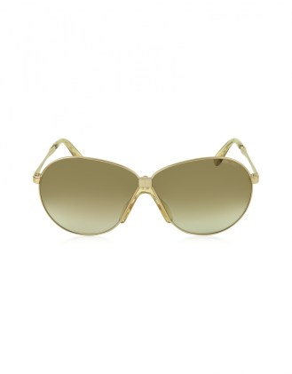 JIMMY CHOO Rose Gold Metal Frame Women's Sunglasses - $395