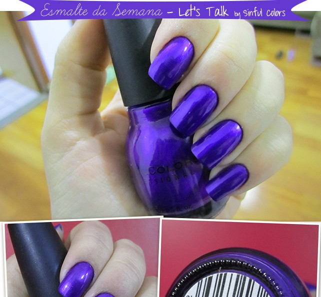 Esmalte Let's Talk Sinful Colors