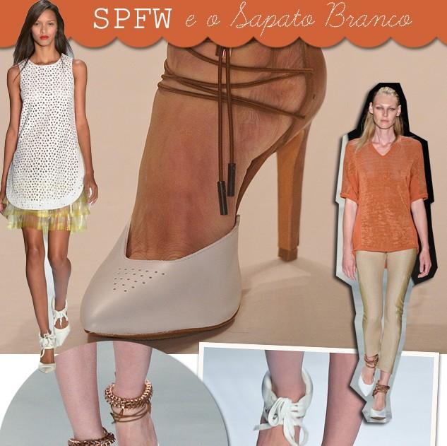 SPFW Sapato Branco