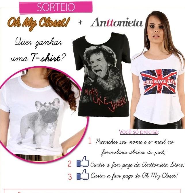 Sorteio t-shirt Anttonieta Store blog de moda Oh My Closet camiseta