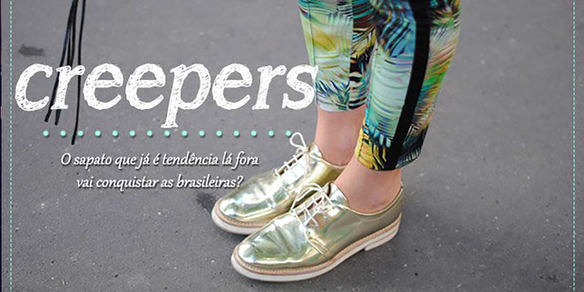Creepers tendencia sapato baixo solado grosso.
