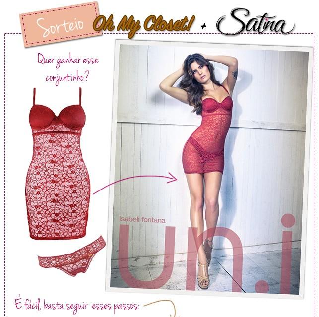 sorteio lingerie satina oh my closet blog de moda