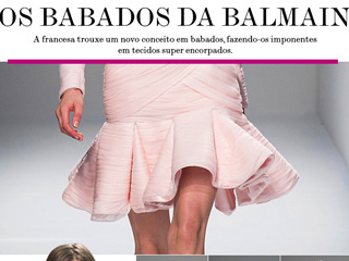 balmain verao 2013 saia babados fit and flare tendencia inverno verao 2014 blog de moda oh my closet paris fashion week