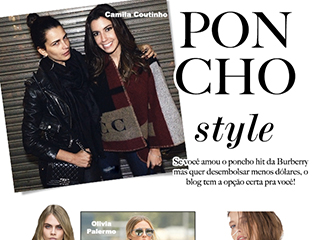 poncho burberry blog de moda oh my closet tendencia poncho zara estilo inverno 2015 camila coutinho olivia palermo cara delevigne moda