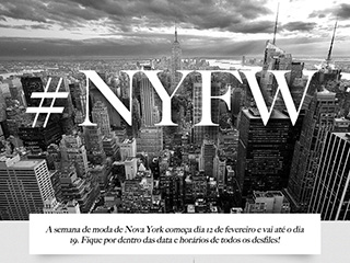 O new york fashion week está chegando. Clique para saber as datas de cada desfile da semana de moda de Nova York.
