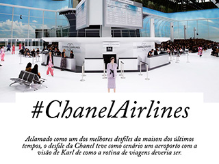 Sabe qual foi o tema do desfile da Chanel? Chanel Airlines! Vem ver o aeroporto mais fashion de Paris no Oh My Closet!
