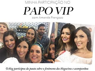 Confira a entrevista da blogger Mônica Araújo para Amanda Françozo, do programa Papo VIP da RBTV.