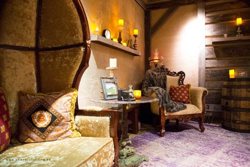 Sala no spa denture do hotel Parker New York.