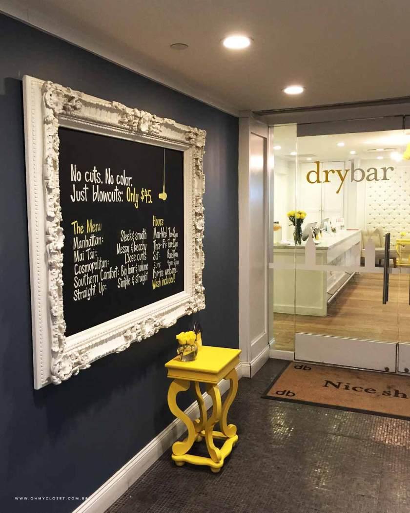 DryBar dentro do hotel Parker Meridien.