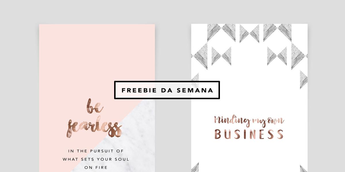 Wallpaper para iPhone Be Fearless. Um papel de parede minimalista, com design de Mônica Araújo. Baixe grátis no Oh My Closet!