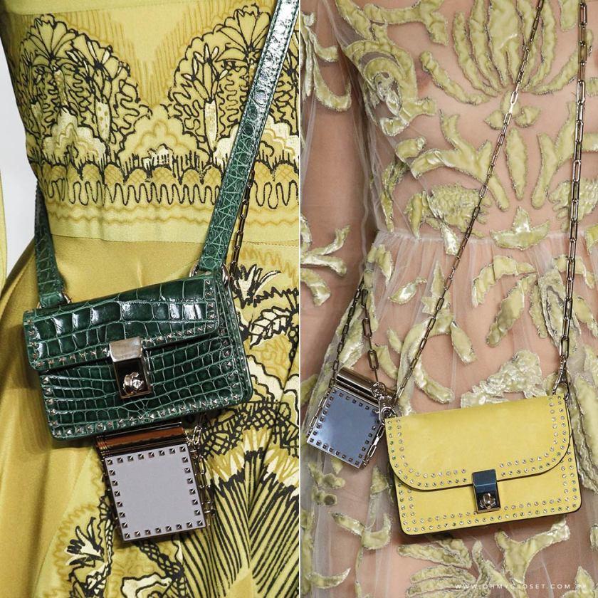 Detalhes micro bags Valentino Paris Fashion Week Monica Araujo tendências bolsas Oh My Closet