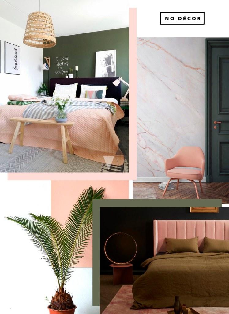 Como incluir o combo rosa blush e verde militar no decor. Veja a tendência no Oh My Closet!
