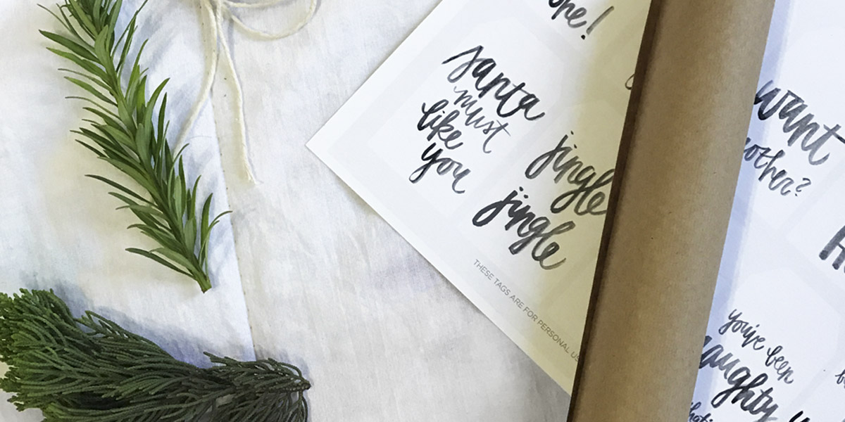 christmas gift wrapping minimalist kraft paper Oh My Closet!
