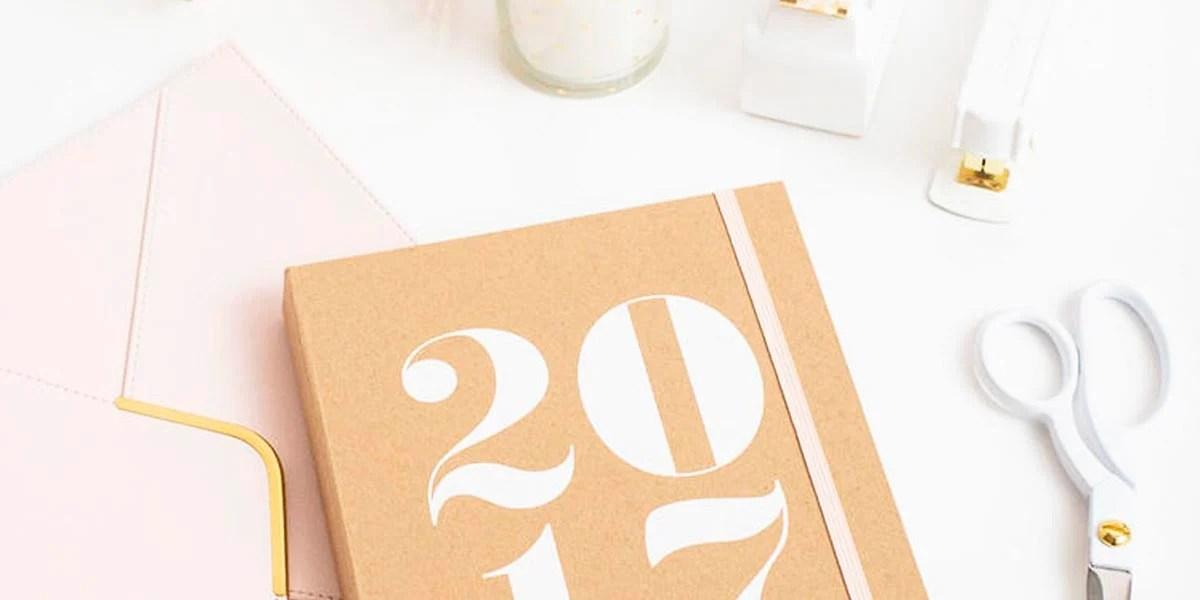 Planner 2017 da Sugar Paper especial para a Target: é feito em papel kraft e tem design minimalista. Veja mais no Oh My Closet!