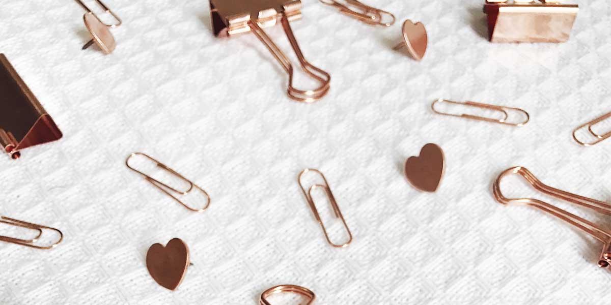 Onde comprar artigos dr papelaria e escritório no rose gold. Veja as dicas no Oh My Closet!