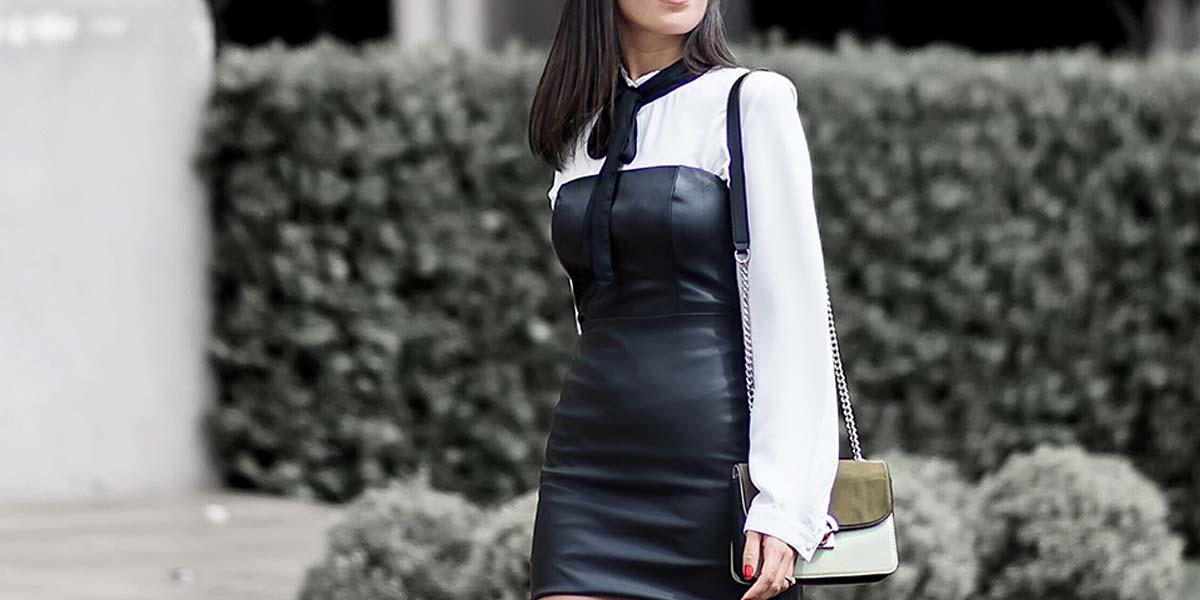 Vestido de couro promoção da Amaro no look da blogger Mônica Araújo Oh My Closet!
