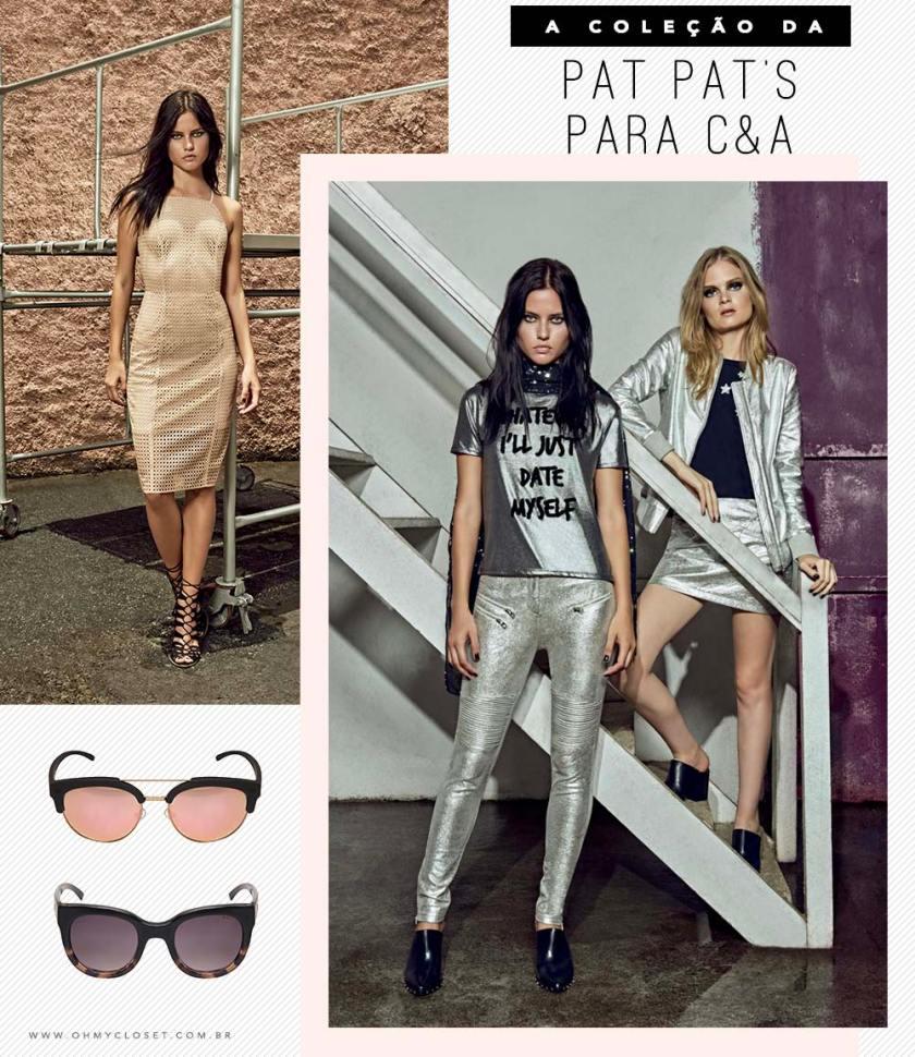 Coleção Pat Pat's para C&A preços peças Oh My Closet Mônica Araújo novidades moda.
