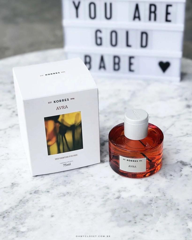 Vem saber se Korres é bom no Oh My Closet. Saiba mais sobre o perfume Avra, resenha review Korres Oh My Closet.