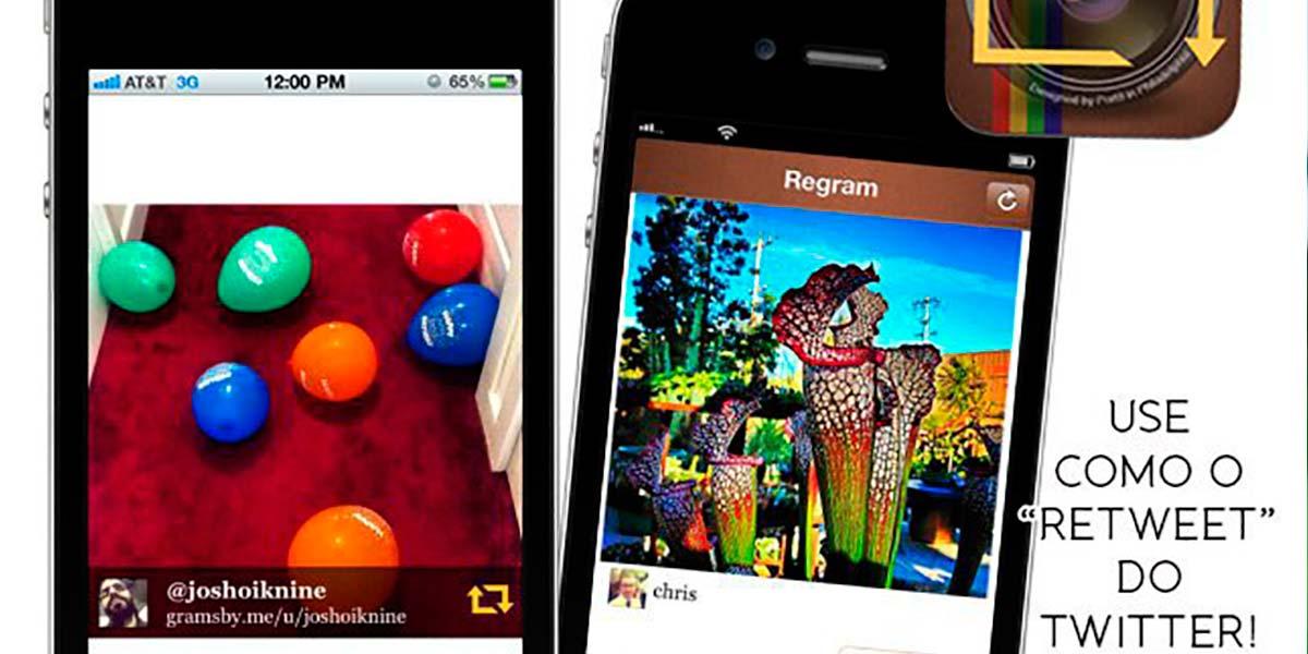 Reposte fotos o Instagram com o app Regram