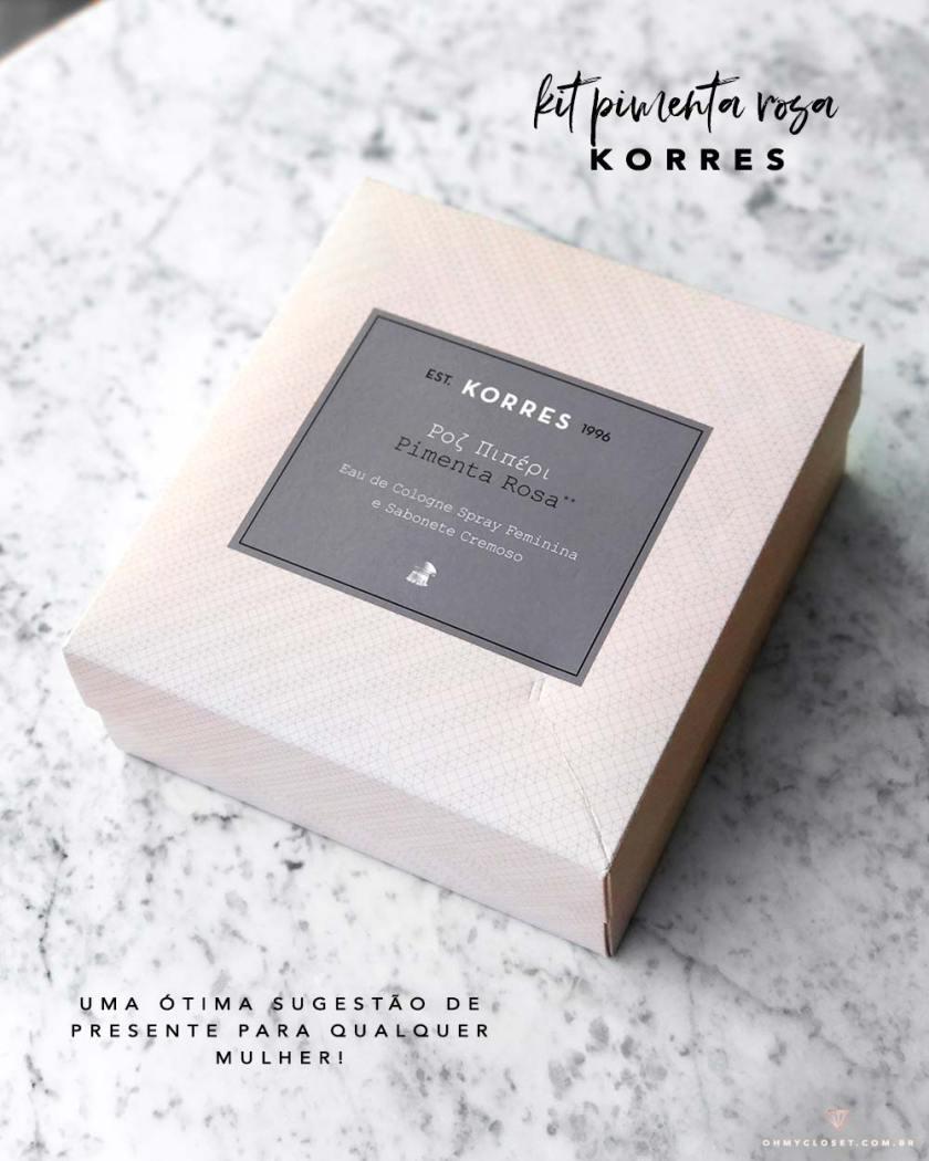 Caixa kit korres pimenta rosa - Oh My Closet!