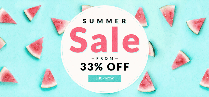 Summer sale promoção RoseGal.