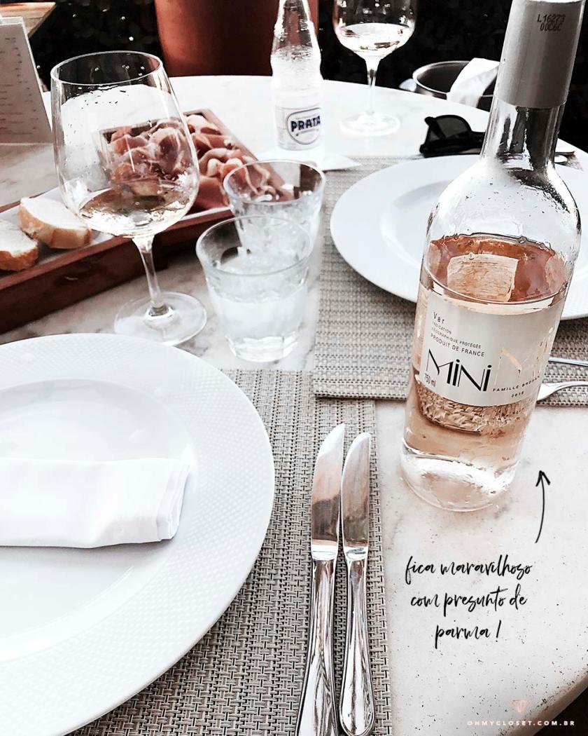 Dica de harmonização com vinho rosé Mini Mi.