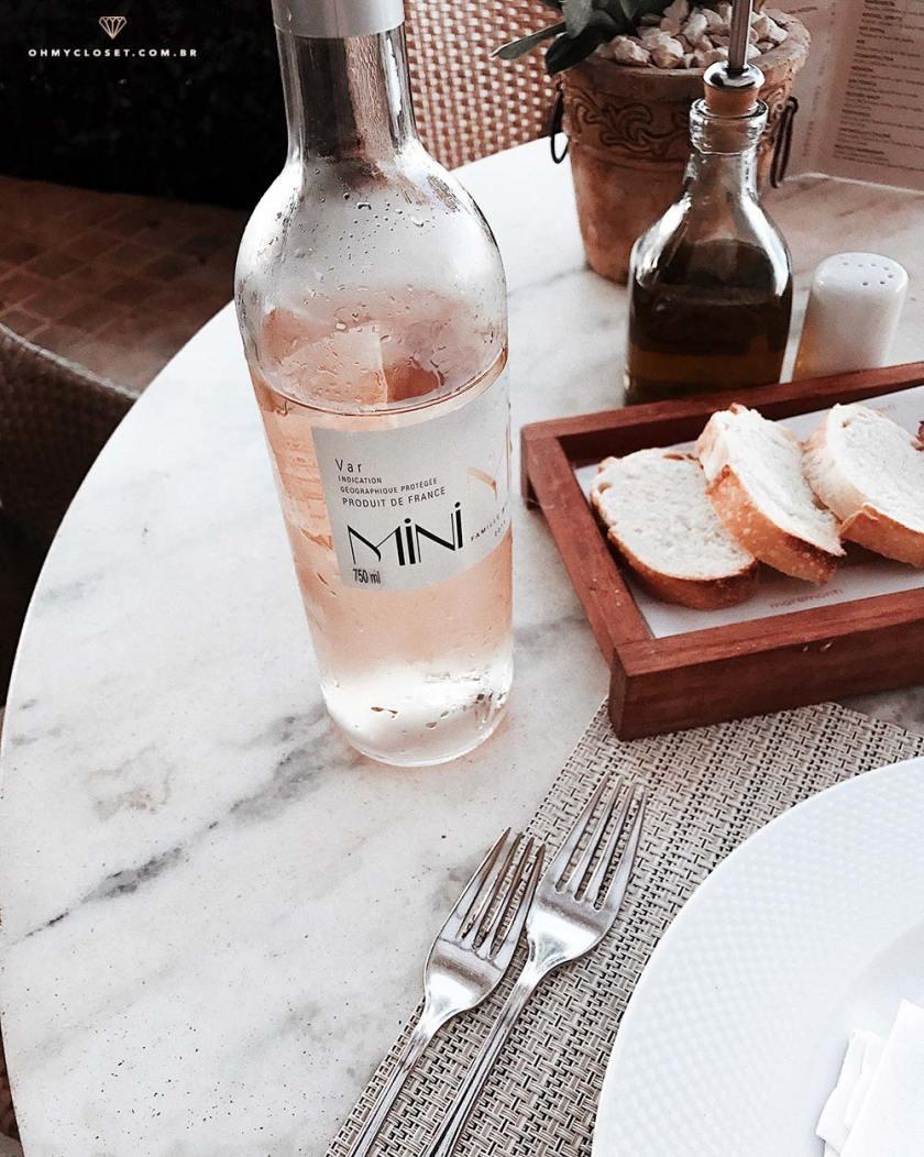 Vinho rosé Mini Mi safra de 2015.