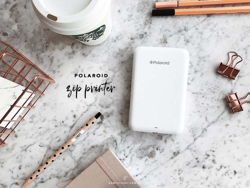 Com funciona a impressora instantânea Polaroid Zip Printer.