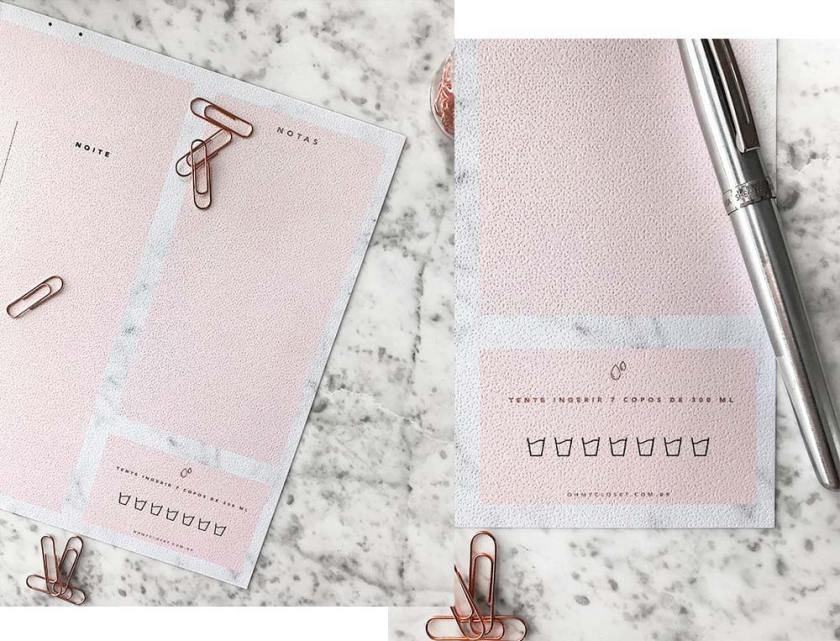 Planner diário minimalista para 2018.