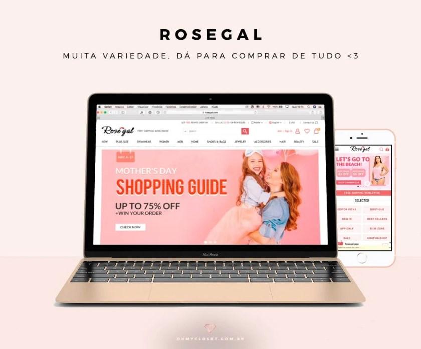A RoseGal é um dos sites chineses confiáveis para comprar roupas baratas.