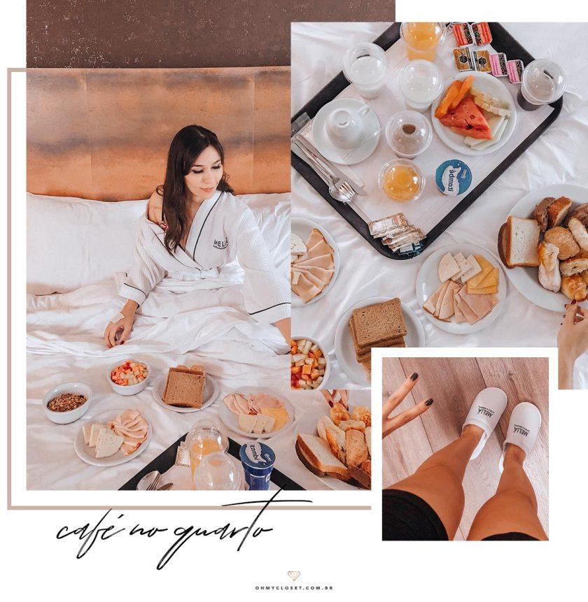 Review do Café da manhã no quarto do hotel Melia Ibirapuera.