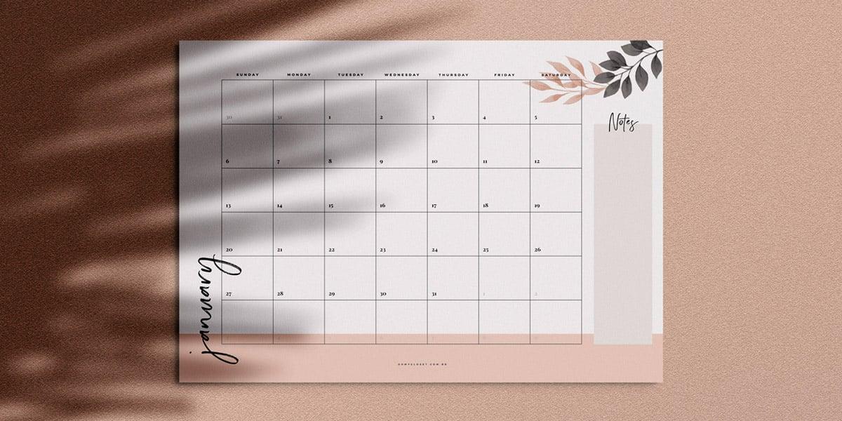 planner mensal 2019 minimalista