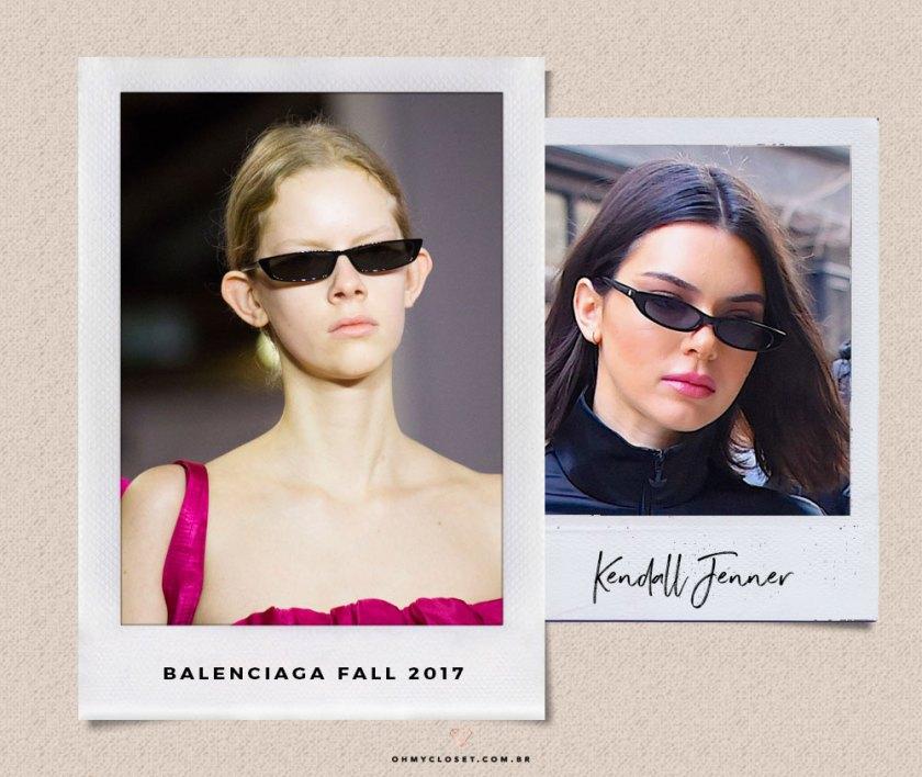 Tendência dos óculos fininhos para 2019.